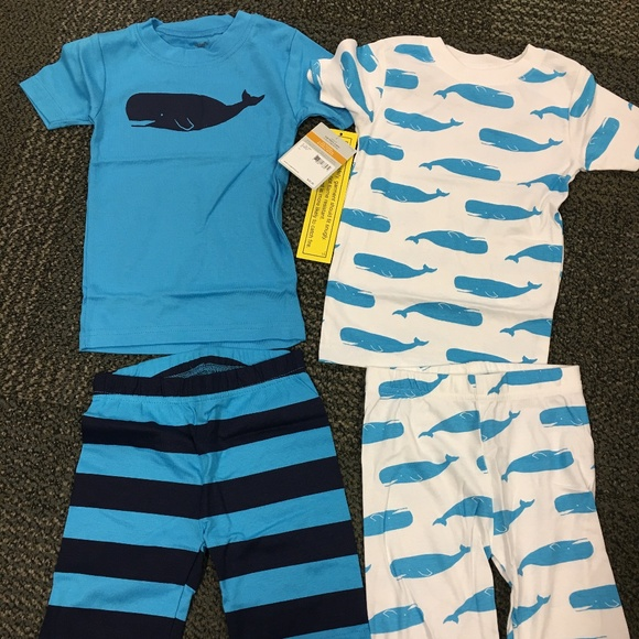 259c73bf8350 Carter s Whale Pajama Set Toddler Boy 2T NWT